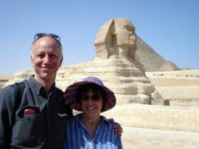 Sheila and Bill visiting the Sphinx
