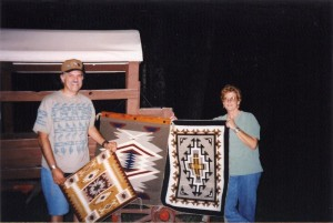 Mel and Marilyn with some of their weaving