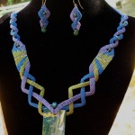 Necklace with coordinating earrings