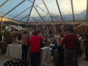 The tented atrium at Jacuzzi Winery