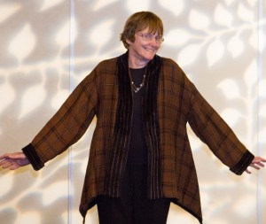 Wendy Chavin, co-chair of CNCH2014, models her jacket