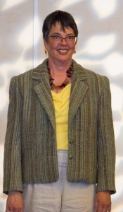 Joan Near from Santa Cruz and co-chair for CNCH 2015 made this blazer and another jacket for the fashion show