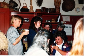 Christmas party 1989 at Maxine's studio