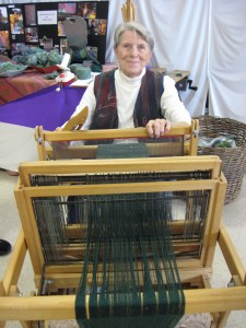 Ginny Gill demonstrating at the County Fair