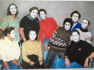 The Yakao Guild Members after a mask making workshop