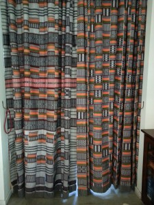 West African Kente cloth as drapes