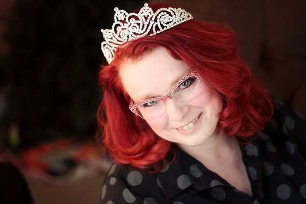 Photo of Beth Smith wearing a tiara