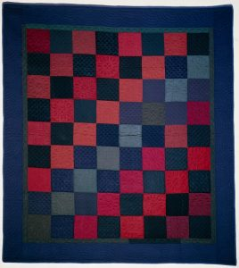 Amish Quilt Checkerboard pattern circa 1900