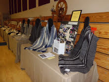 2015 display of scarves at the Natural Fiber Fair