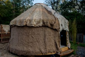 The Fibershed Yurt at West County Fiber Arts . photo by Kalie Cassel-Feiss