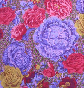 cabbage and rose fabric