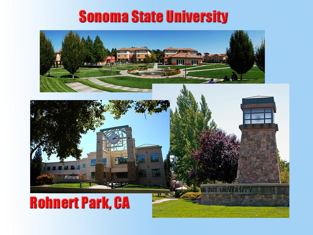 Report from Sonoma State - CNCH